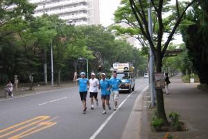 2009年、夏。核兵器廃絶と恒久平和を願い、 市内でアピール。