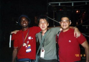 05年8月・南米ベネズエラに日本代表団として派遣。