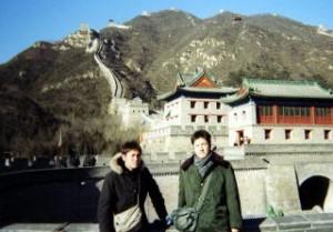 03年2月・歴史を学びに中国へ。万里の長城にて。